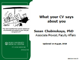 ORS 2016 PAS CV What your CV says about you PowerPoint PPT Presentation
