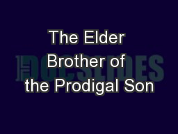 The Elder Brother of the Prodigal Son