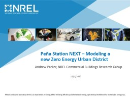 Peña Station NEXT – Modeling a new Zero Energy Urban District