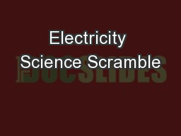 Electricity Science Scramble