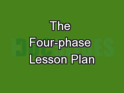 The Four-phase Lesson Plan