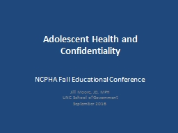 Adolescent Health and Confidentiality