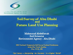 Soil Survey of Abu Dhabi