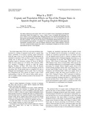 What Is a TOT Cognate and Translation Effects on Tipof