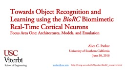 Towards Object  Recognition and Learning using the