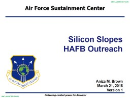 Silicon Slopes  HAFB Outreach