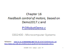 Chapter 16 Feedback control of motors, b