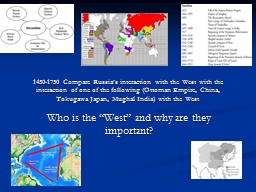 1450-1750 Compare Russia�s interaction with the West with the interaction of one of the following