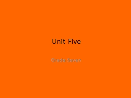 Unit Five Grade Seven 1. anecdote (n) a short account of an incident in someone�s life