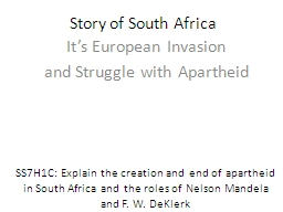 Story of South Africa  It's European Invasion