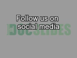 Follow us on social media