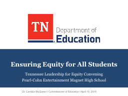 Ensuring Equity for All Students