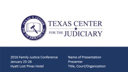 2016 Criminal Justice Conference	Court of Criminal Appeals Update
