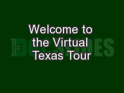 Welcome to the Virtual Texas Tour