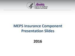 MEPS Insurance Component