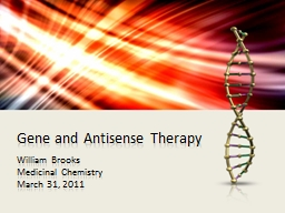Gene and Antisense Therapy