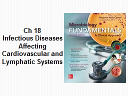 Ch  18 Infectious Diseases Affecting Cardiovascular and Lymphatic Systems