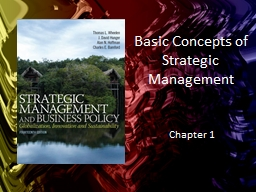 Basic Concepts of Strategic