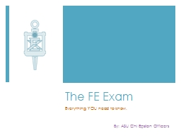 The FE Exam Everything YOU need to know.