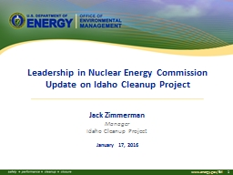Leadership  in Nuclear Energy Commission