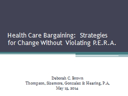 Health Care Bargaining:  Strategies
