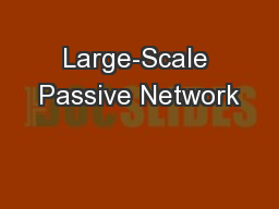 Large-Scale Passive Network