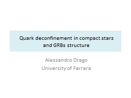 Quark  deconfinement   in compact stars