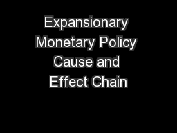 Expansionary Monetary Policy Cause and Effect Chain