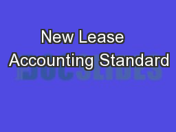 New Lease  Accounting Standard