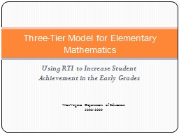 Using RTI to Increase Student Achievement in the Early Grades