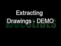 Extracting Drawings - DEMO
