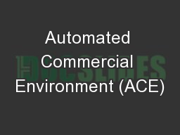 Automated Commercial Environment (ACE)