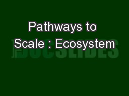 Pathways to Scale : Ecosystem