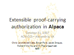 Extensible proof-carrying authorization in