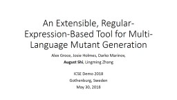 An Extensible, Regular-Expression-Based Tool for Multi-Language Mutant Generation