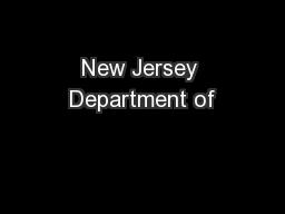 New Jersey Department of