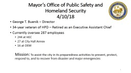 Mayor's Office of Public Safety and