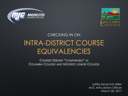 Intra-district Course Equivalencies