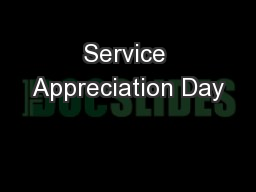 Service Appreciation Day