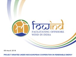 PROJECT GRANTED UNDER INDO-EUROPEAN COOPERATION ON RENEWABLE ENERGY