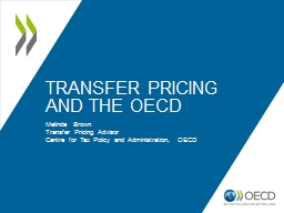 Transfer Pricing and the OECD