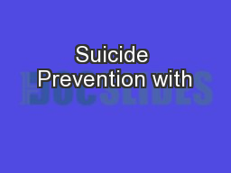 Suicide Prevention with