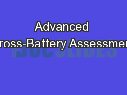 Advanced Cross-Battery Assessment