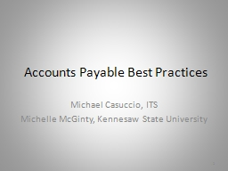 Accounts Payable Best Practices PowerPoint PPT Presentation