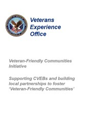 Veteran-Friendly Communities Initiative