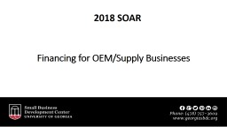 Financing for OEM/Supply Businesses