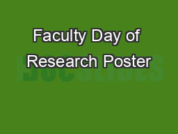 Faculty Day of Research Poster