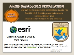 1  USFWS  Recommended Installation Guide for