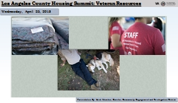 Los Angeles County Housing Summit: Veteran Resources