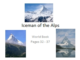 Iceman of the Alps World Book